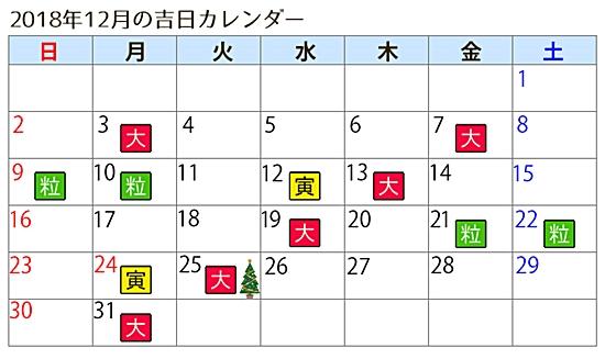 ラッキーショップ カレンダー 12月