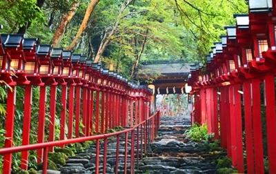 貴船神社 参道石段
