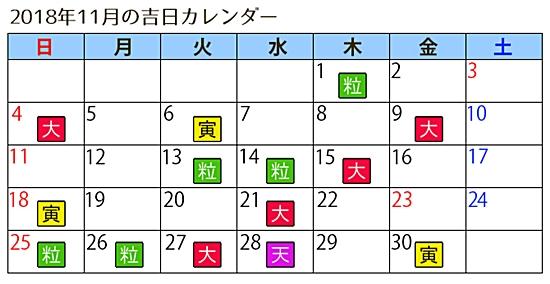 縁起日カレンダー2